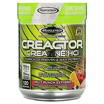 Muscletech, Performance Series, CREACTOR, Creatine HCl Formula, Fruit Punch Extr