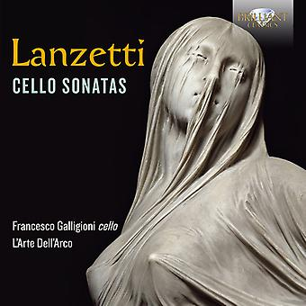 Lanzetti / Galligioni Loreggian - Cello Sonatas [CD] USA import