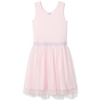 Brand - Spotted Zebra Big Girls' Tutu Tank Dress, Pink, Large (10)