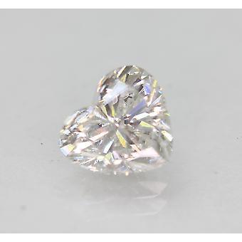 認定済み 1.25 カラット E SI1 ハートシェイプ強化天然ダイヤモンド 7.19x6.47mm 2VG