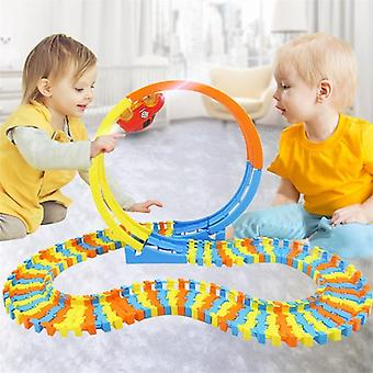 88pcs Track Building-blocks Auto Educational-toys Diy Changeable Self-asamblate