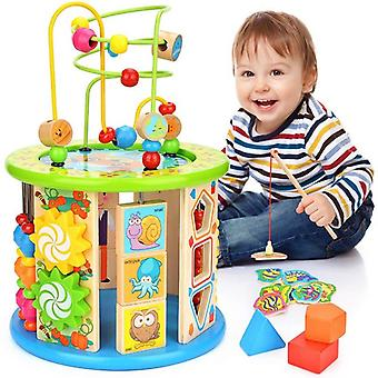 Activity Cube, 10 In 1 Multipurpose, Educational Wooden Toy