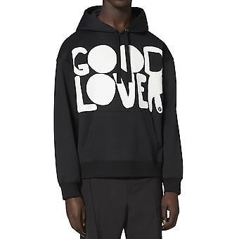 Valentino Uv0mf15p6v20ni Männer's schwarze Baumwolle Sweatshirt