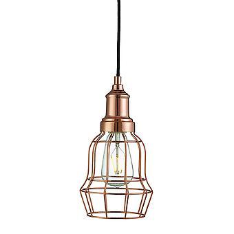 1 Lichtdraadplafond hang koper, E27