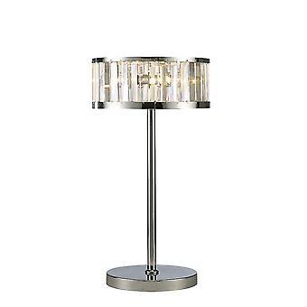 Inspired Diyas - Torre - Table Lamp 3 Light Polished Chrome, Crystal