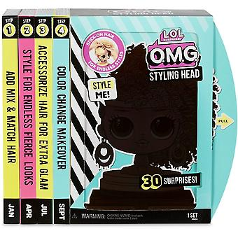 ¡Sorpresa de L.O.L! O.M.G. Royal Bee Styling Head & 30 Surprises