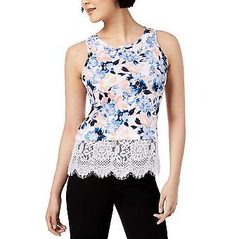 Maison Jules | Jadore Knit Floral Lace Hem Tank Top