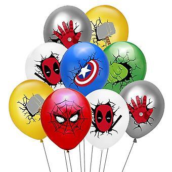 スパイダーマン、アイアンマンバットマンバースデーパーティーバルーン装飾用