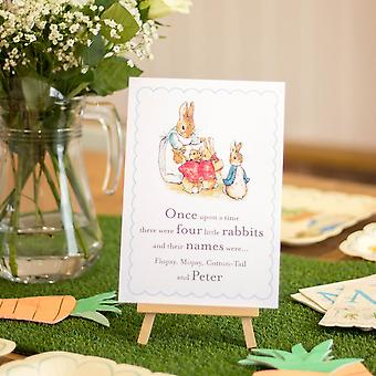 Peter Rabbit A5 'Once upon a time there were Four little Rabbits' Sign and Easel