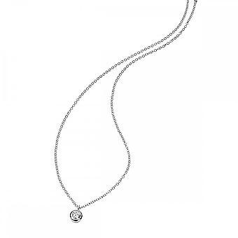 Anfänge Sterling Silber klar Zirkonia 41 + 5cm Halsketten N3397C