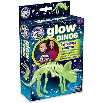 The Original Glowstars Company Glow Dinos Triceratops Skeleton
