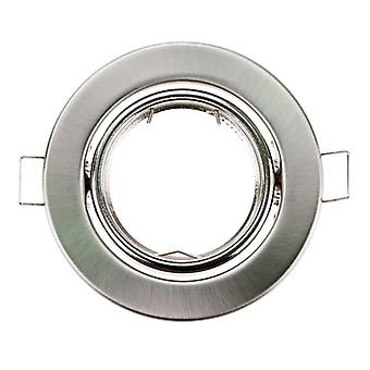 Round Nickel Recessed Led Ceiling Light, Adjustable Frame Mr16 Bulb Fixture