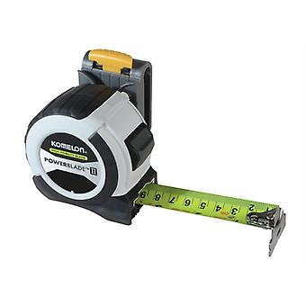 Komelon PowerBlade II Pocket Tape 8m/26ft (Width 27mm) with Clip KOMW826PK