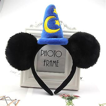 Kids Headband Mickey Mouse Minnie Party Christmas Halloween Hair Accessories - Ears Cosplay Gifts
