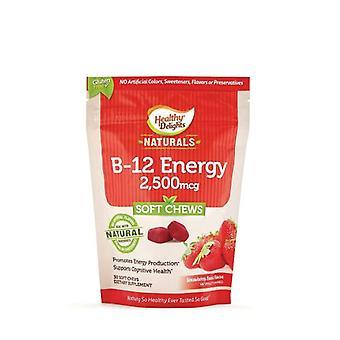 Healthy Delights Natural B-12 Energy, 30 Chews