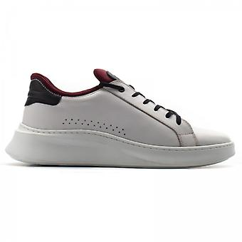 Base London Crescent Waxy Mens Leather Trainers White