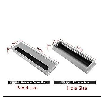 Aluminum Alloy Rectangular Desk Cable Grommets Wire Hole Cover Outlet Port