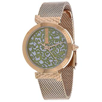 Just Cavalli Women's Animalier Green Dial Watch - JC1L092M0075