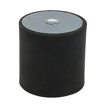 Dia 50mm Height 50mm M10 Thread Female Rubber Mount Shock Absorber Black