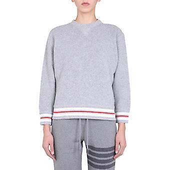 Thom Browne Fjt146a06918055 Women's Grey Wool Sweatshirt