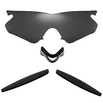 الاستقطاب استبدال العدسات عدة ل Oakley M الإطار سخان أسود إيريديوم الأسود المضادة للخدش المضادة للوهج UV400 SeekOptics
