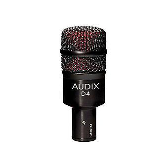 Audix d4 dynamisk mikrofon, hyper-kardioid