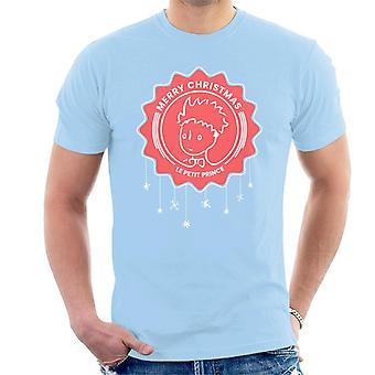 The Little Prince Christmas Snowflake Men's T-Shirt