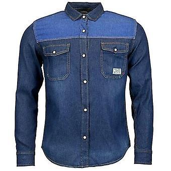 Herren Jack South Langarm Kontrast Denim Shirt
