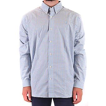 Fred Perry Ezbc094075 Men's Light Blue Cotton Shirt