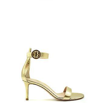Gianvito Rossi Ezbc443010 Women's Gold Leather Sandals
