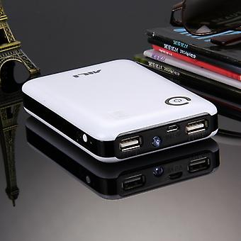 Portable High-efficiency 4 x 18650 Batteries Plastic Power Bank Shell Box with Dual USB Output & Heat Dissipation Hole, For iPhone, iPad, Samsung, LG,