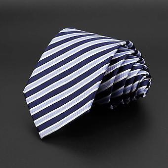 New Classic Solid Color Stripe Flower Floral Jacquard Necktie Accessories