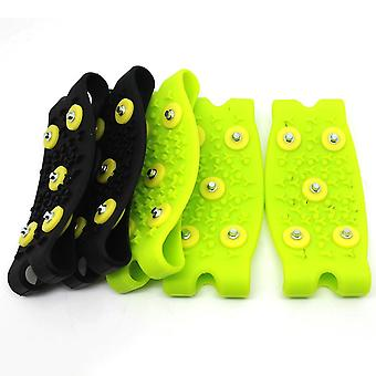 Snow Ice Climbing, Anti Slip, Spikes Grips Crampon Cleats Stud, Shoe Cover