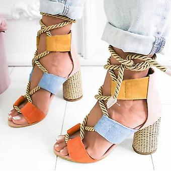 Fashion Heels Lace Up High Sandals