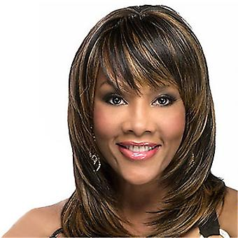 Women's Wig Wig Sheath Mixed Color Women's Synthetic Wigs Wig