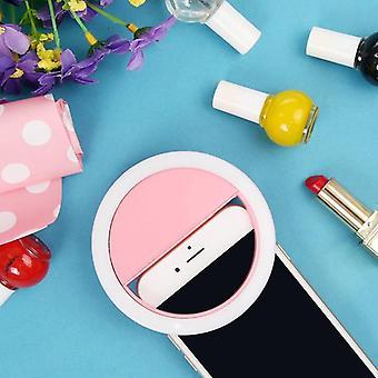Przenośny mini ledowy telefon z pierścieniem Flash Selfie Light Clip-on Video Light Night Lampa