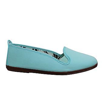 Estilo Flossy Mijas Womens Ballerina Espadrille Slip On Plimsolls Shoes 561 Aqua