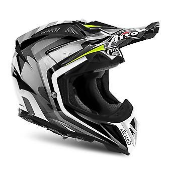 Airoh Aviator 2 2 Motorcycle Helmet Replacement Peak Warning Yellow PEAK ONLY