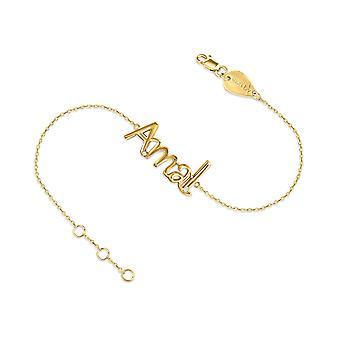 Baby Bracelet Full 18K Gold Name with Micro Diamonds