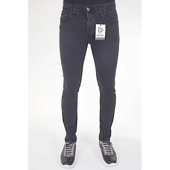 Neat Stretch Jeans - Slim Fit - Black Grey