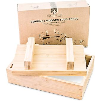 Gourmet Wooden Food Press for Making Tofu Cheese Oshizushi and Musubi - Plastic Free Presser
