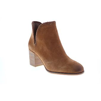 Frye & Co. Phoebe Braid Bootie  Womens Brown Suede Ankle & Booties Boots