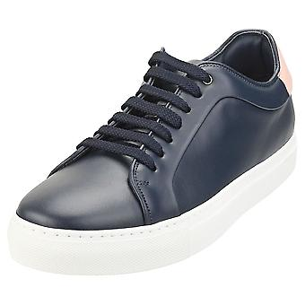 Paul Smith Basso Mens Casual Trainers in Navy Pink