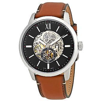 Fossil ME3154 Townsman 48mm Automatisk lys brun læder herre ur