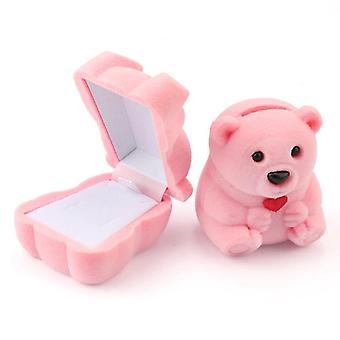 1 Piece Lovely Velvet Jewelry Box Container Wedding Ring Box For Earrings
