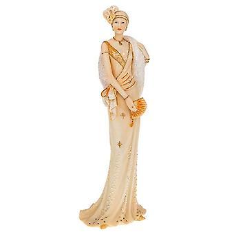 Deco 1930s Girl Standing Peach Ornament