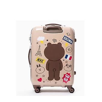 Travel Tale  Spinner Bear Cabin Luggage, Cute Travel Suitcase For Traveling