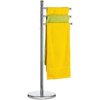 Tatkraft Breeze – 3 Arms Towel Stand – Free-Standing Bath Towel Stand – Rustproof