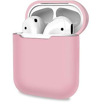 Ochranný kryt, odolné pouzdro pro Apple AirPods 1, 2 - světle růžové