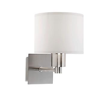 Forlight Lyon - LED Wall Fixture Satin Nickel avec Drum Shade E27 60W